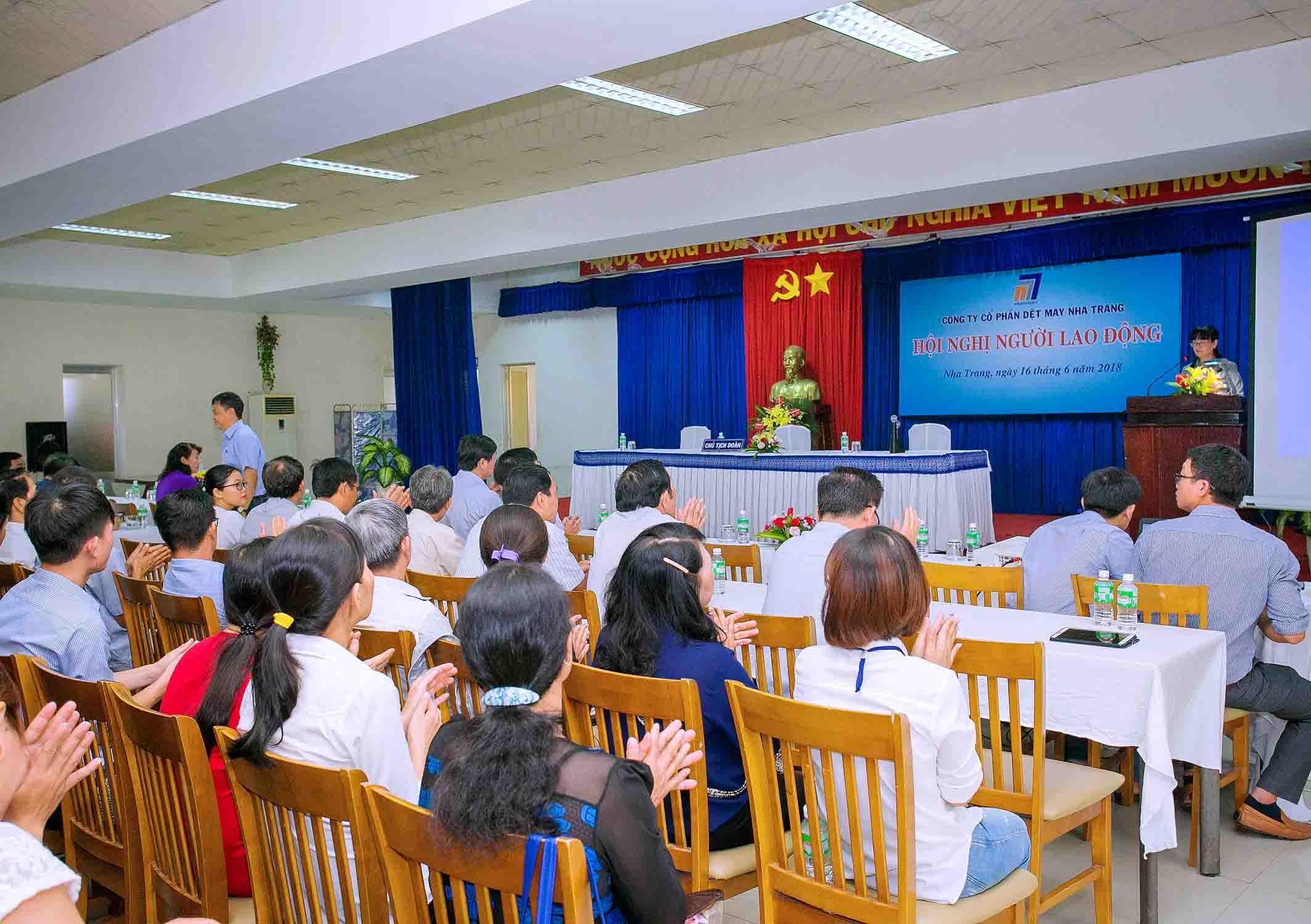 Công ty CP Dệt may Nha Trang tổ chức Hội nghị người lao động năm 2018
