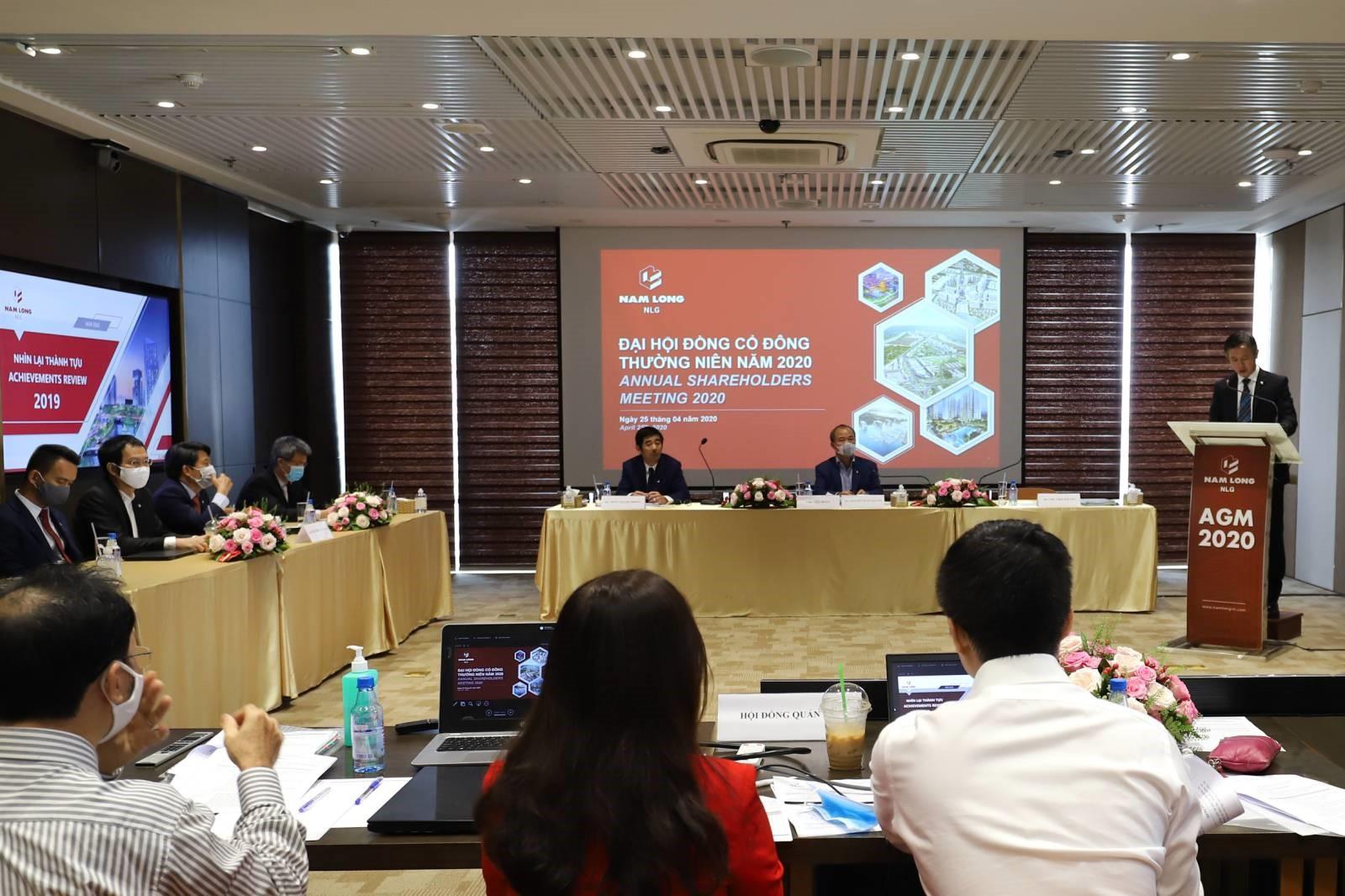Tập đoàn Nam Long (HOSE: NLG) tổ chức trực tuyến Đại hội cổ đông 2020