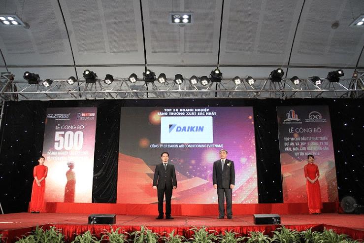 Daikin Việt Nam được vinh danh trong Lễ công bố 500 doanh nghiệp tăng trưởng năm 2016