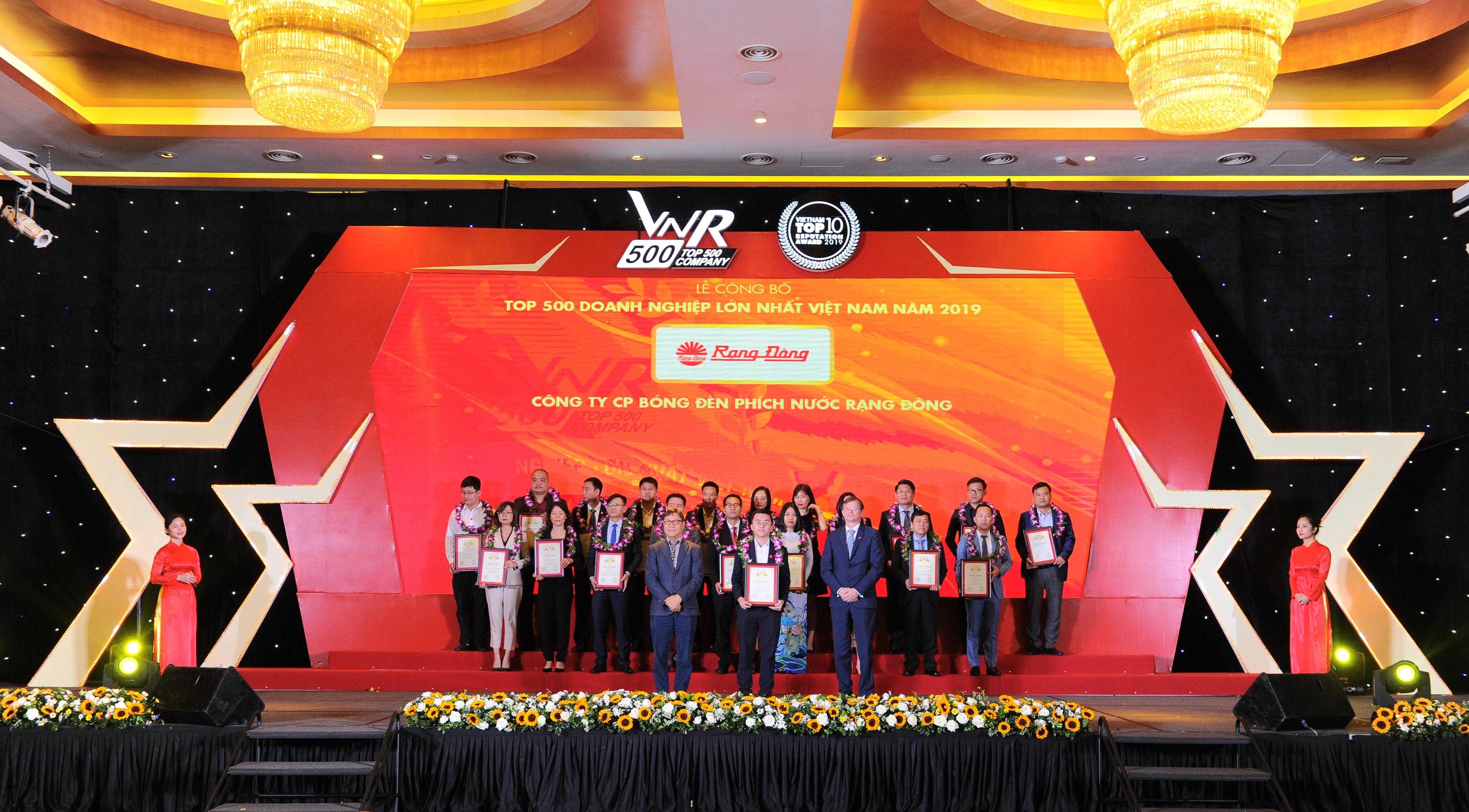 Rạng Đông lọt Top 500 doanh nghiệp lớn nhất Việt Nam năm 2019