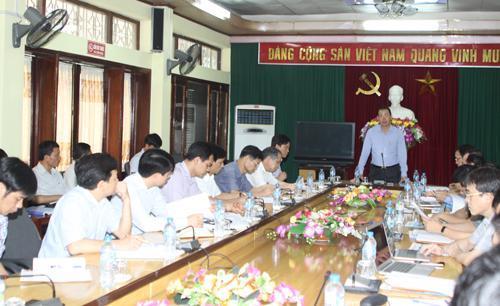 Tổng Giám đốc Tập đoàn Đặng Thanh Hải làm việc tại Công ty than Vàng Danh