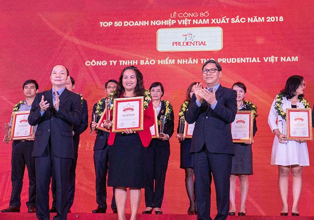 Prudential Việt Nam - Top 50 doanh nghiệp xuất sắc nhất năm 2018