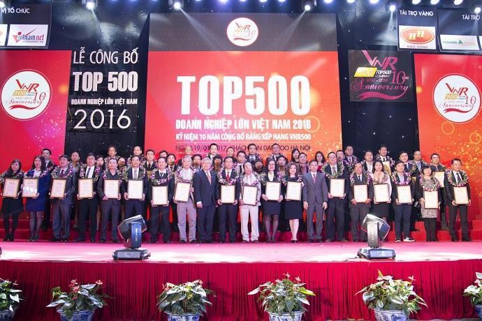 Tổng công ty 28 trong Bảng xếp hạng VNR500 và Top 50 doanh nghiệp Xuất sắc 2016