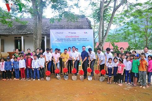 Báo điện tử VOV và Hyundai Thành Công khởi công xây dựng điểm trường ở Thanh Hóa