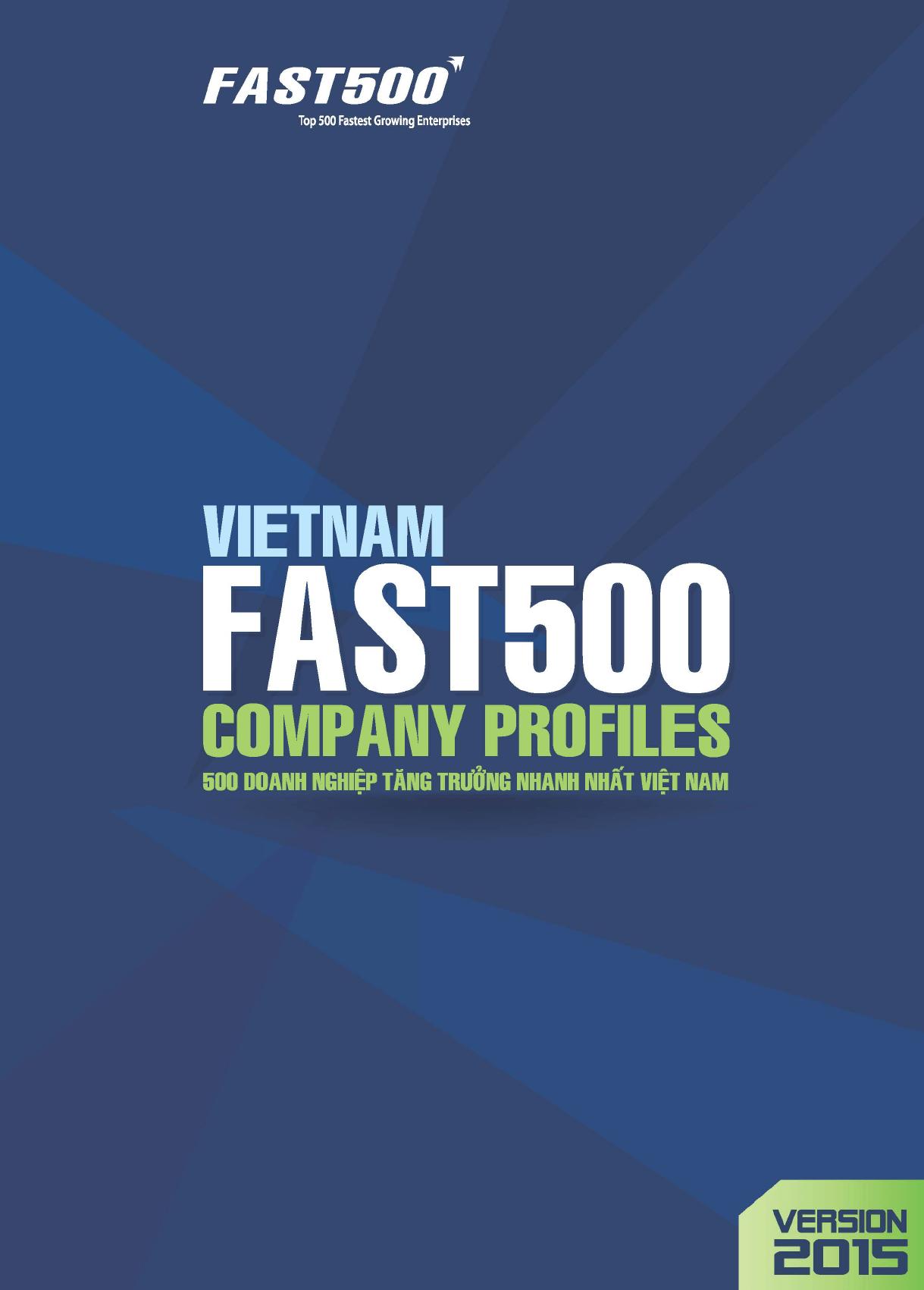 13/06/2016: Hồ sơ 500 doanh nghiệp tăng trưởng nhanh nhất Việt Nam_Phiên bản 2015