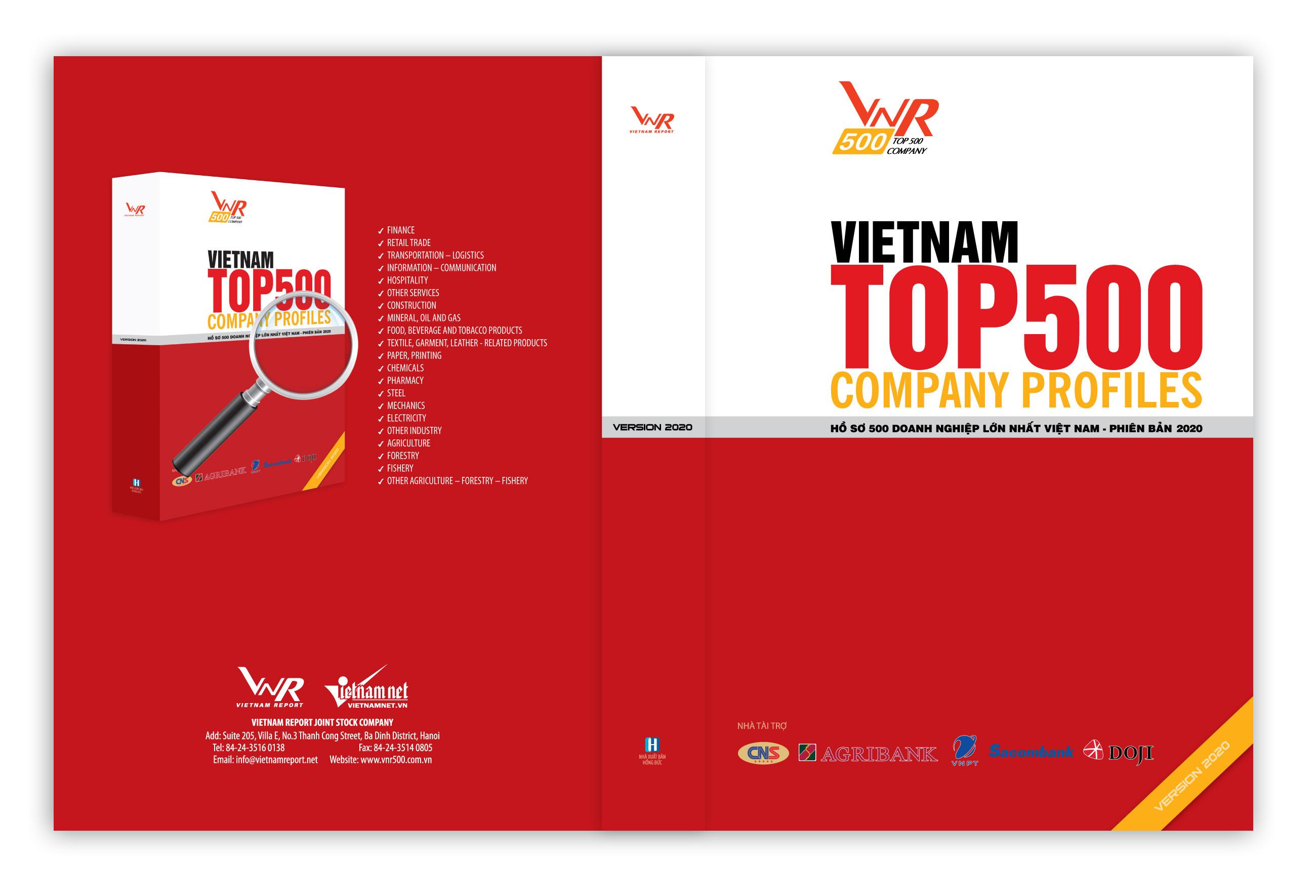 08/09/2020: Hồ sơ 500 Doanh nghiệp lớn nhất Việt Nam_Phiên bản 2020