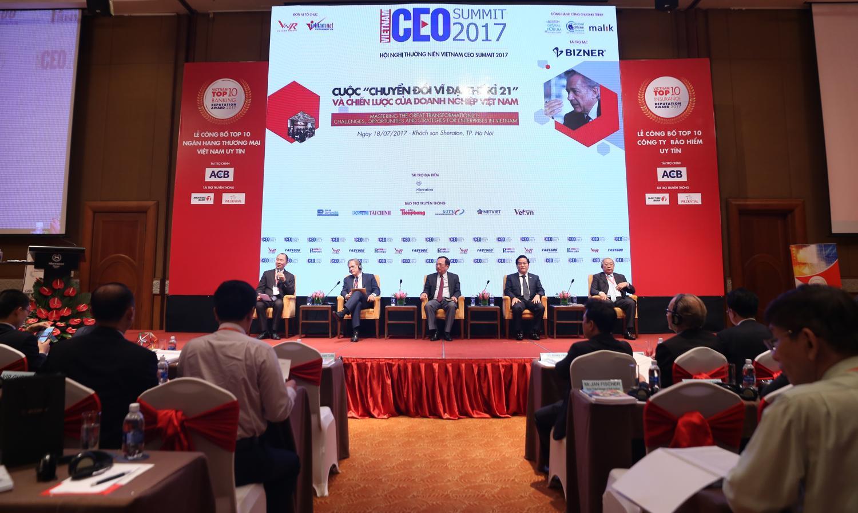 Hình ảnh từ Hội nghị Vietnam CEO Summit 2017