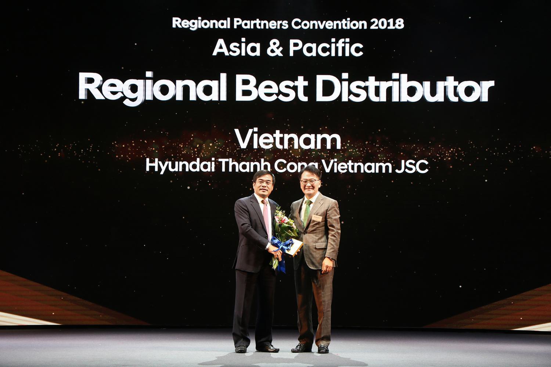 Hyundai Thành Công tiếp tục là nhà phân phối xuất sắc nhất khu vực Thái Bình Dương