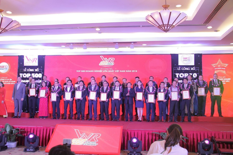 PVN và nhiều đơn vị thành viên được vinh danh Top 500 Doanh nghiệp lớn nhất Việt Nam 2018