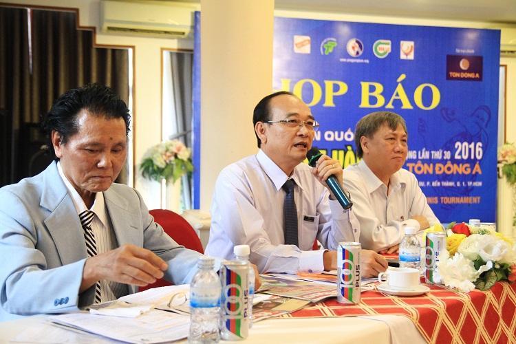 Tôn Đông Á tài trợ chính Giải Bóng bàn Quốc tế Cây vợt Vàng năm 2016