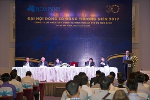 Đại hội cổ đông 2017: Hòa Bình đặt kế hoạch doanh thu 16.000 tỷ đồng