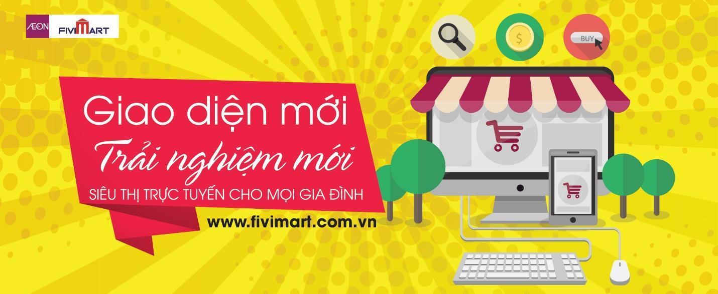 AEON FIVIMART ra mắt siêu thị trực tuyến phiên bản mới