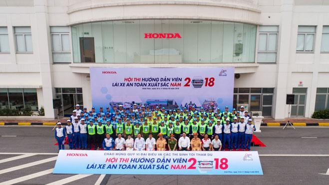 """Honda Ôtô Tây Hồ đạt giải nhất LXAT trong Hội thi """"HDV Lái xe an toàn xuất sắc 2018"""""""