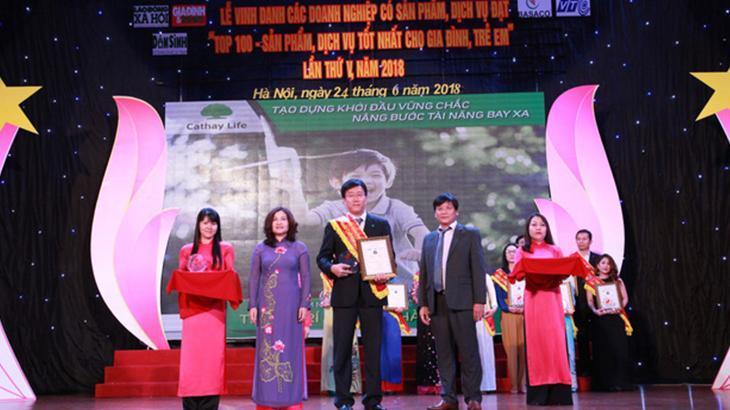 Cathay Việt Nam đạt Top 100 sản phẩm tốt nhất gia đình - trẻ em 2018