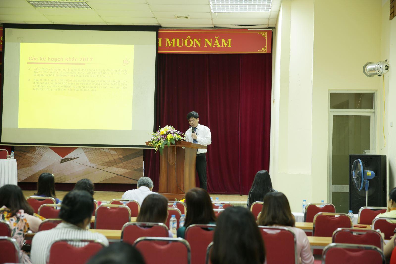 ADC tổ chức Đại hội đồng cổ đông thường niên 2017