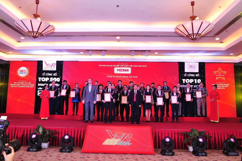 Công ty Vedan Việt Nam tiếp tục được vinh danh trong Top 500 doanh nghiệp lớn nhất Việt Nam