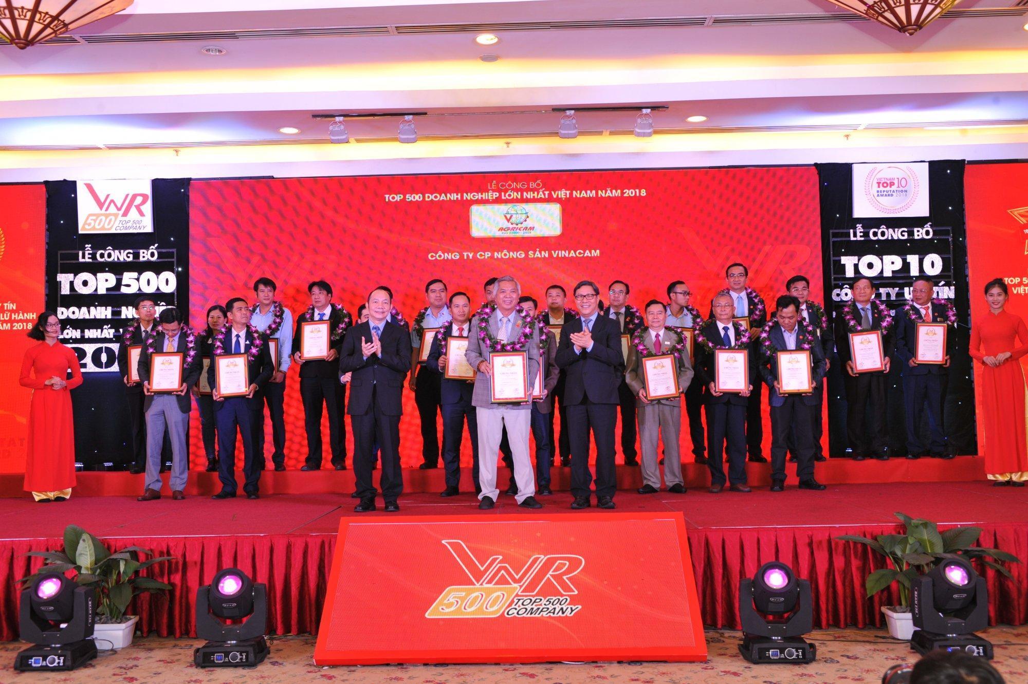 Agricam xuất sắc tăng 126 hạng trong BXH TOP 500 Doanh nghiệp lớn nhất Việt Nam