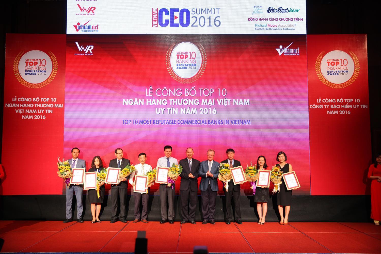 Công bố Top 10 Ngân hàng thương mại Việt Nam uy tín năm 2017