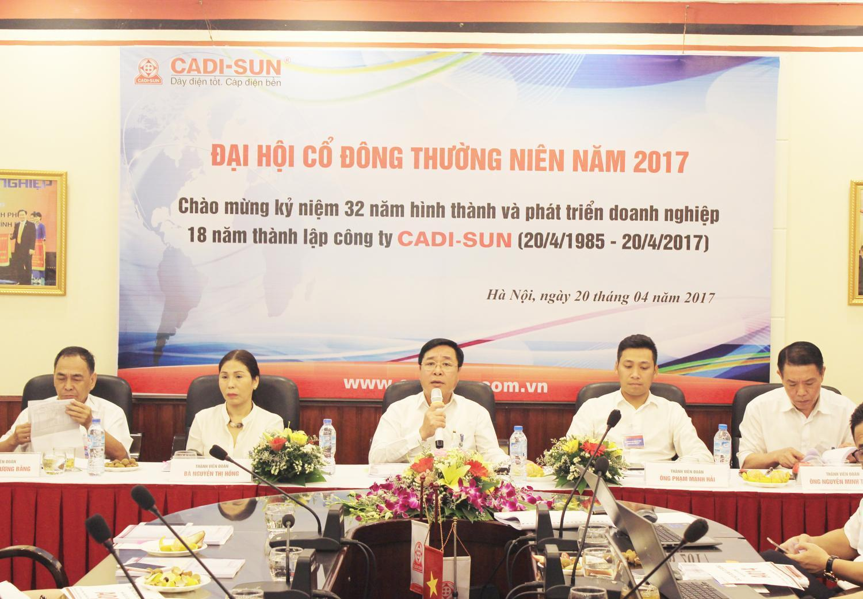 CADI-SUN tổ chức thành công Đại hội Cổ đông thường niên 2017