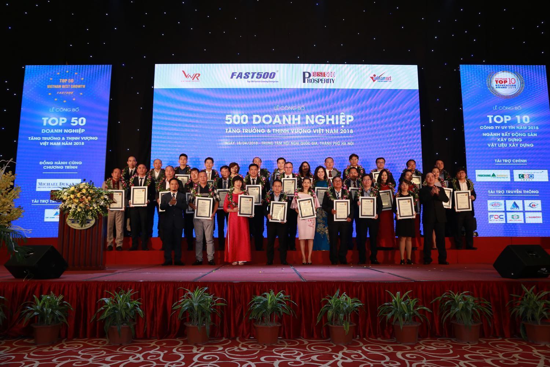 Công bố 500 Doanh nghiệp tăng trưởng và thịnh vượng Việt Nam năm 2018