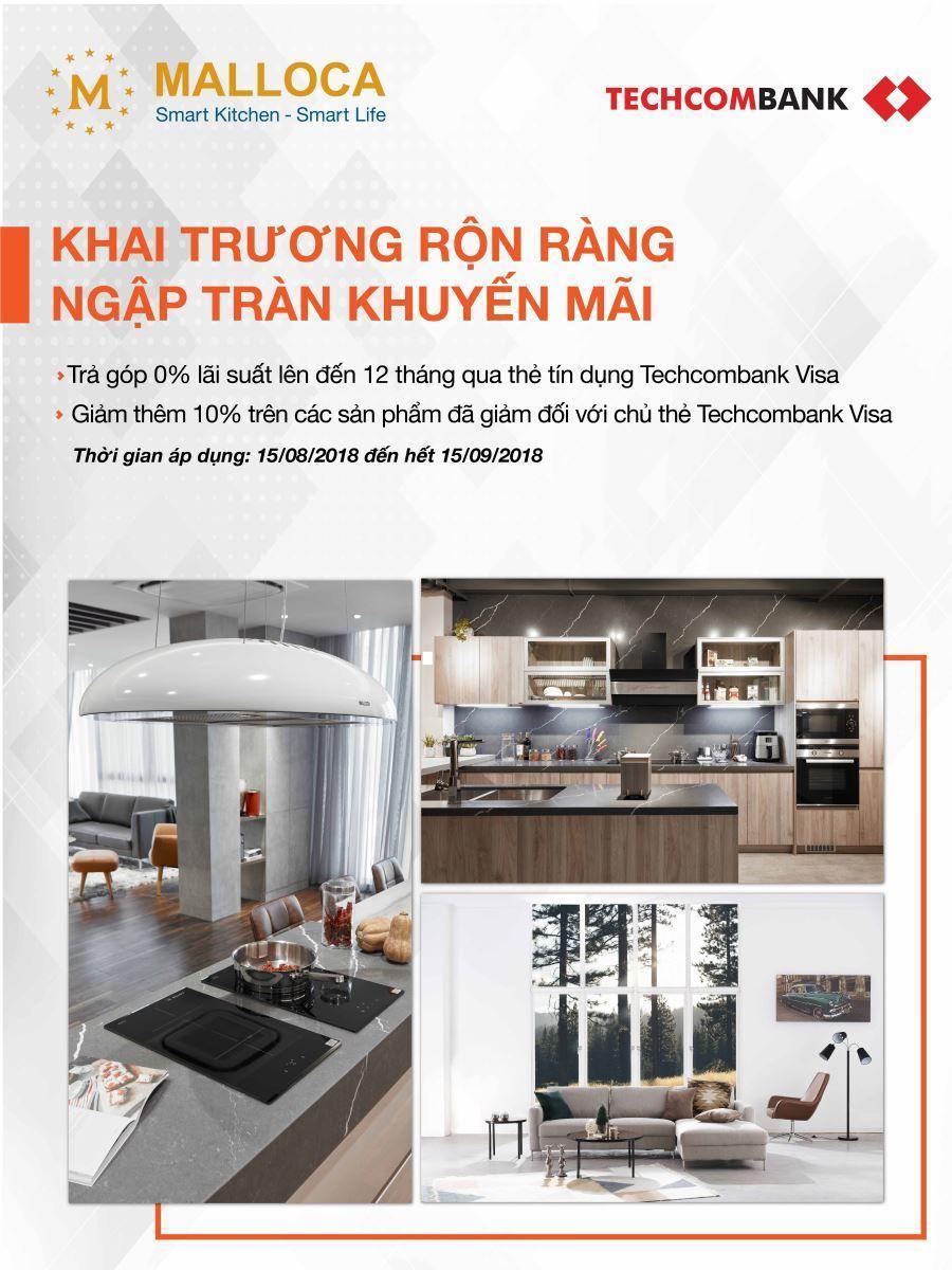 Tân trang nhà bếp với chương trình ưu đãi dành cho chủ thẻ Techcombank