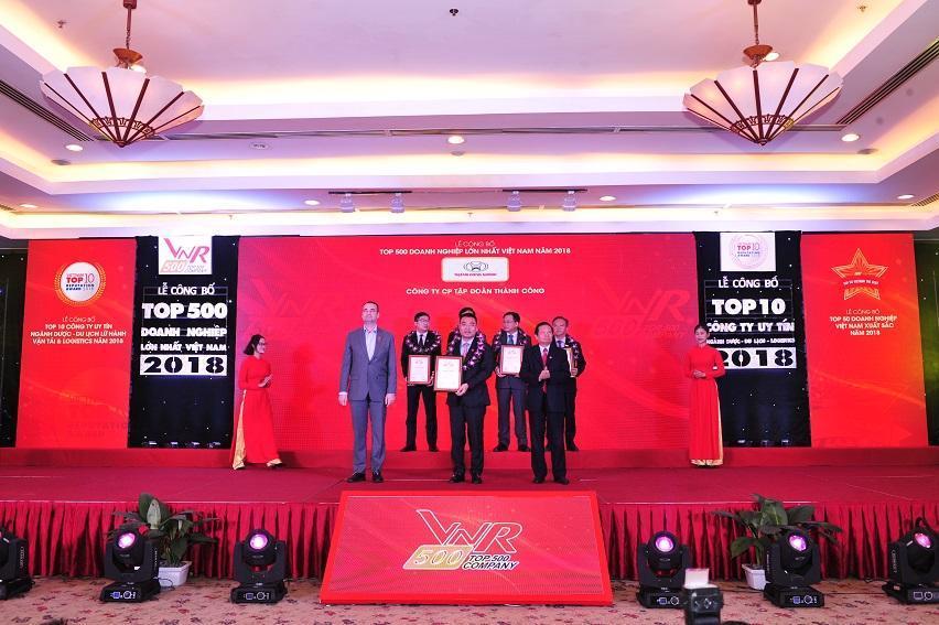Tập đoàn Thành Công, Hyundai Thành Công ghi danh Top 500 Doanh nghiệp lớn nhất Việt Nam 2018