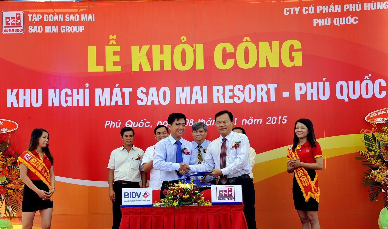 Lễ khởi công xây dựng Khu nghỉ mát Sao Mai Resort Phú Quốc và ký hợp tác chiến lược với BIDV chi nhánh Phú Quốc