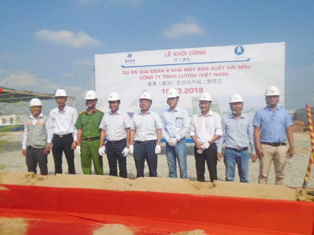 Hải Đăng đưa vào khởi công dự án nhà máy sản xuất vải màu Lu Thai