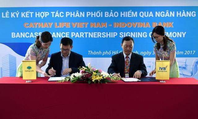 Bảo hiểm nhân thọ Cathay Việt Nam ký kết hợp tác phân phối bảo hiểm với Ngân hàng Indovina