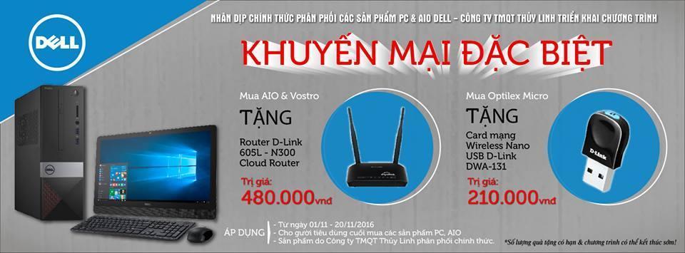 Công ty TMQT Thủy Linh chính thức phân phối các sản phẩm PC & AIO DELL