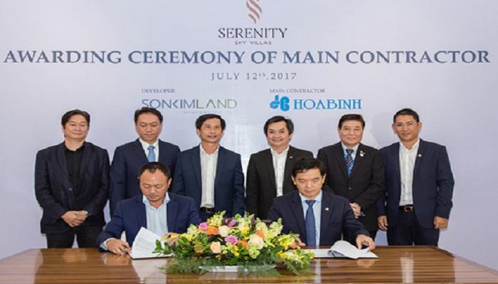 Sơn Kim Land giao Hòa Bình làm tổng thầu dự án Serenity Sky Villas