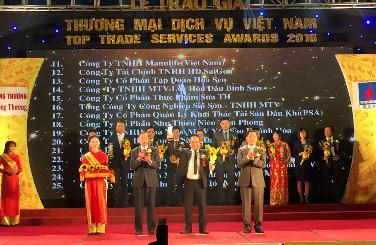 HD Saison đạt top Thương mại dịch vụ Việt Nam
