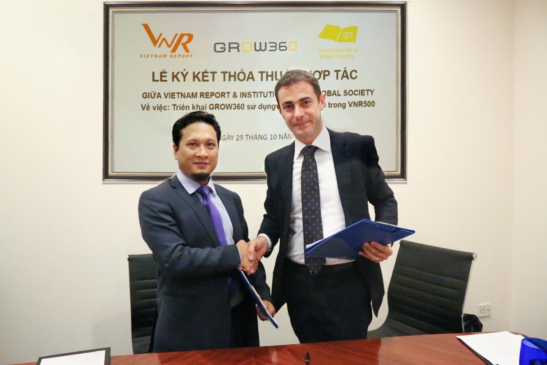 Lễ ký kết thỏa thuận hợp tác giữa VNR và IGS (Nhật Bản)