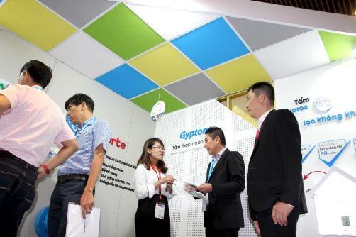 Saint-Gobain Việt Nam và giải pháp trần tường thạch cao sáng tạo tại triển lãm