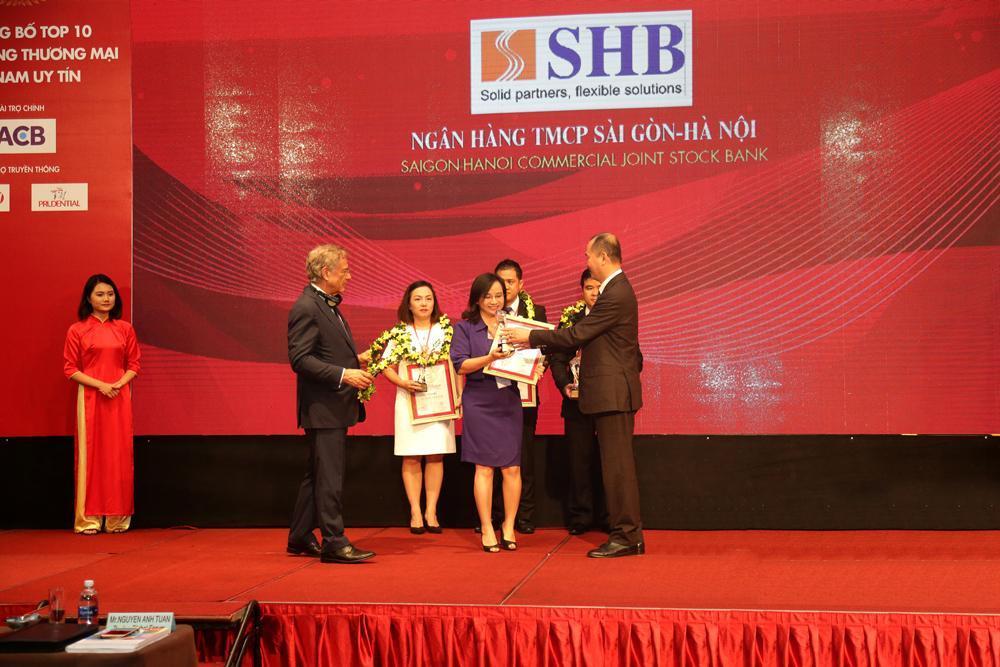 SHB 2 năm liên tiếp được bình chọn Top 10 Ngân hàng uy tín nhất Việt Nam