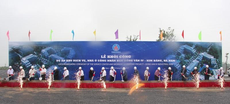 VIGLACERA khởi công Khu dịch vụ, Nhà ở cho Công nhân tại KCN Đồng Văn 4, Hà Nam
