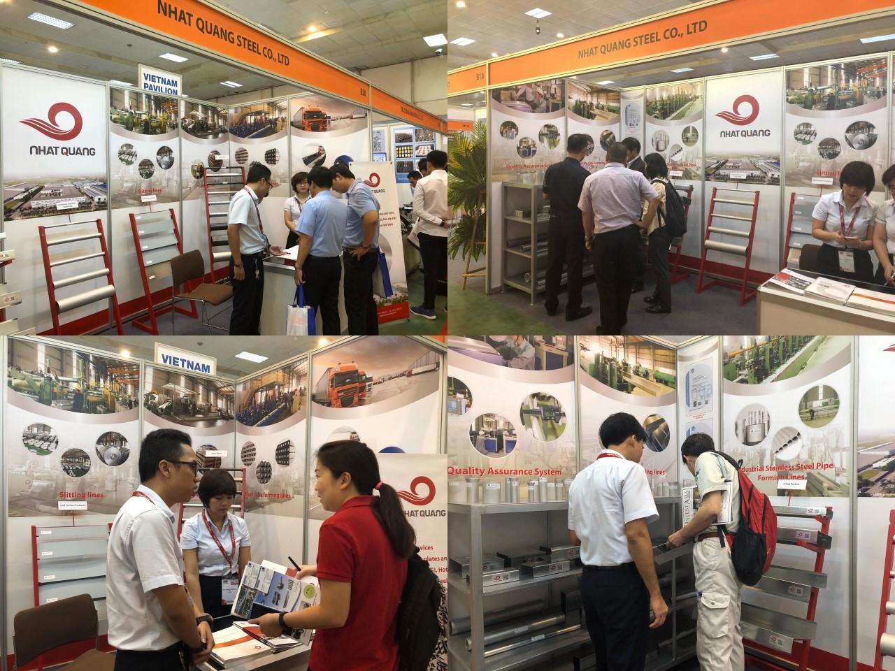 Công ty TNHH Thép Nhật Quang tham gia triển lãm Vietnam Manufacturing EXPO 2018