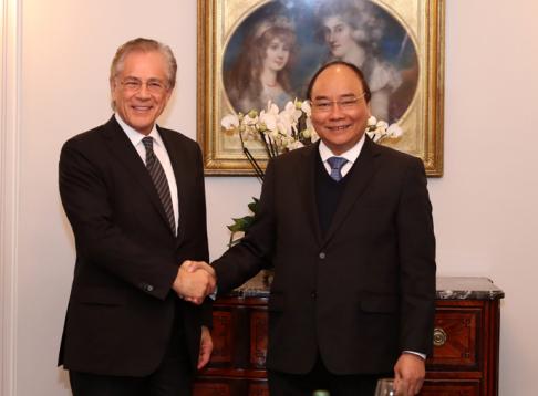 Thủ tướng Nguyễn Xuân Phúc và GS. Fredmund Malik